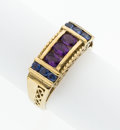 Estate Jewelry:Rings, Amethyst, Sapphire, Gold Ring. ...