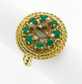 Estate Jewelry:Rings, Emerald, Gold Ring Setting. ...