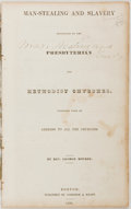 Books:Pamphlets & Tracts, Rev. George Bourne. Man-Stealing and Slavery Denounced by thePresbyterian and Methodist Churches, Together with an Addr...