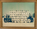 Football Collectibles:Photos, 1970 New Orleans Saints Team Signed Oversized Photograph....