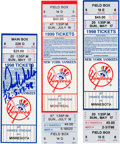 Baseball Collectibles:Tickets, 1998-99 David Wells & David Cone Perfect Game Full Tickets& Wells Signed Perfect Game Ticket Stub. ...