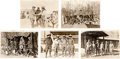 Baseball Collectibles:Photos, 1920's-30's Ty Cobb & Tris Speaker Type I Western Photographs Lot of 5....