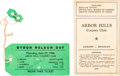Golf Collectibles:Autographs, 1946-47 Bryon Nelson Signed Pass & Scorecard Used in Round withBen Hogan. ...