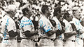 Baseball Collectibles:Photos, 1980's New York Old Timer's Day Multi Signed Oversized Photograph....