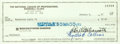 Baseball Collectibles:Others, 1987 Bart Giamatti Signed Check. ...