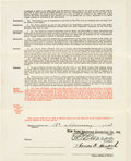Autographs:Others, 1941 Tommy Henrich Signed Player Contract. ...