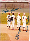 Baseball Collectibles:Photos, 1980's New York's Finest Outfielders Multi Signed Photograph. ...