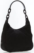 Luxury Accessories:Bags, Prada Black Canvas Tote Bag with Lucite Handle . ...