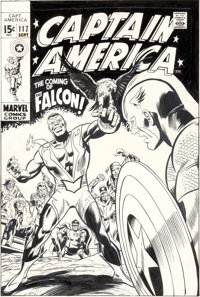 Gene Colan and Joe Sinnott Captain America #117 First Appearance of the Falcon Cover Original Art (Marvel, 1969)