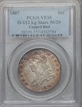 Bust Half Dollars, 1807 50C Large Stars, 50 Over 20 VF35 PCGS. O-112, R.1....