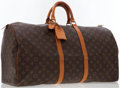 Luxury Accessories:Bags, Louis Vuitton Classic Monogram Canvas Keepall 55 Weekender Overnight Bag . ...