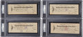 Baseball Collectibles:Others, 1931-32 Ty Cobb Signed Checks Lot of 4, PSA/DNA Mint 9....