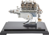 MODEL CURTISS OX-5 V-8 AIRCRAFT ENGINE ON DISPLAY STAND 14 x 18-1/2 x 14-1/2 inches (35.6 x 47.0 x 36.8 cm) Fin