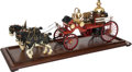 Other, LIVE STEAM MODEL HORSE-DRAWN VICTORIAN FIRE APPARATUS. 15 x 35 x7-1/2 inches (38.1 x 88.9 x 19.1 cm). Finely engineered and...