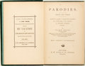 "Books:Literature Pre-1900, ""John Paul"" (Charles H. Webb). Parodies. Prose and Verse.New York: G.W. Carleton, 1876. First edition. Twelvemo. Il..."