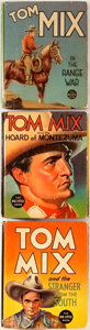 """Books:Children's Books, Group of Three Tom Mix Big Little Books. Racine: WhitmanPublishing, 1936-1937. Small format, 3.5"""" x 4.5"""". I... (Total: 3Items)"""