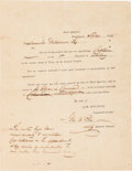 Autographs:Military Figures, George Washington Poe Military Appointment Signed...