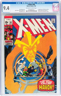 X-Men #58 (Marvel, 1969) CGC NM 9.4 Off-white to white pages