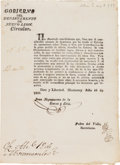 Miscellaneous:Ephemera, Juan Nepomuceno de la Garza Circular Regarding the Illegality ofHarboring Deserters during the War with Texas....