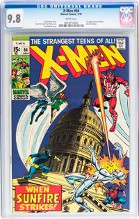 X-Men #64 (Marvel, 1970) CGC NM/MT 9.8 White pages