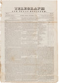 Miscellaneous:Ephemera, [Newspaper]. Telegraph and Texas Register....