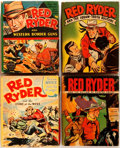"""Books:Children's Books, Fred Harman. Group of Four Red Ryder Books. Racine: WhitmanPublishing, 1941-1946. From the original newspaper strips. 3.5"""" ...(Total: 4 Items)"""