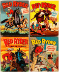 """Books:Children's Books, Fred Harman. Group of Four Red Ryder Books. Racine: WhitmanPublishing, 1945-1947. From the original newspaper strips. 3.5"""" ...(Total: 4 Items)"""