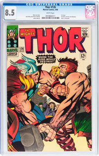 Thor #126 (Marvel, 1966) CGC VF+ 8.5 White pages