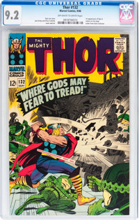 Thor #132 (Marvel, 1966) CGC NM- 9.2 Off-white to white pages