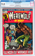 Bronze Age (1970-1979):Horror, Werewolf by Night #1 (Marvel, 1972) CGC VF/NM 9.0 Off-white towhite pages....