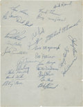 Autographs:Others, 1957 Pittsburgh Pirates Team Signed Paper....