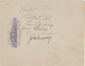 Autographs:Others, Circa 1930 Babe Ruth, Lou Gehrig, Knute Rockne, Jack Dempsey, TomHeeney & Tommy Loughran Signed Stationery. ...