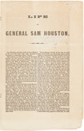 Miscellaneous:Booklets, [Sam Houston]. Life of General Sam Houston....