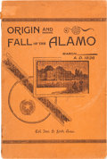 "Miscellaneous:Booklets, [John Salmon ""RIP"" Ford]. Origin and Fall of the Alamo...."