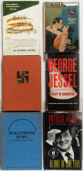 Books:Americana & American History, Group of Six Books about Early 20th Century Hollywood. Of note is aphotoplay edition of Cobra, two books by George Jess...(Total: 6 Items)