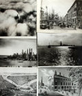 "Books:Americana & American History, Group of Six Oversized Reproduction Photographs and Prints of NewYork City. Various sizes, smallest 14"" x 10"". Original mat..."