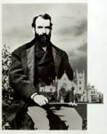 "Books:Americana & American History, [American Heritage]. Composite Reproduction Photograph of RobberBaron Jay Gould holding Lyndhurst, his Estate. 11"" x 14"". U..."