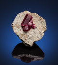 Minerals:Miniature, RED BERYL. Violet Claims, Wah Wah Mts, Beaver Co., Utah,USA. ...