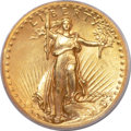 High Relief Double Eagles, 1907 $20 High Relief, Wire Rim PCGS Genuine....