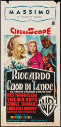 "Movie Posters:Adventure, King Richard and the Crusaders (Warner Brothers, 1954). ItalianLocandina (13"" X 27.5""). Adventure.. ..."