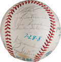 Baseball Collectibles:Balls, 1978 New York Yankees Old Timers' Day Multi Signed Baseball. ...