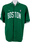 Basketball Collectibles:Uniforms, 2001-02 Paul Pierce Game Issued Boston Celtics Warm Up Jacket....