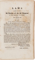 Miscellaneous:Booklets, [Republic of Texas]. Laws Passed at the 2nd Session of the 2ndCongress of the Republic of Texas. April and May, 1838....
