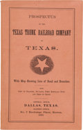 Miscellaneous:Booklets, Prospectus of the Texas Trunk Railroad Company of Texas....