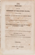 Miscellaneous:Ephemera, [James Monroe]. Message from the President of the United States, Communicating Information of the Proceeding of Certain ...