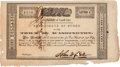 Autographs:Celebrities, [Old Three Hundred]. John W. Hall Town of Washington Stock Certificate Twice Signed....