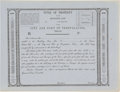 Miscellaneous:Ephemera, City and Port of Trespalacios Certificate of Title....