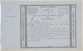 Miscellaneous:Ephemera, City and Port of Trespalacios Certificate of Title with ReceiptStub....