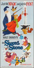 "Movie Posters:Animation, The Sword in the Stone (Buena Vista, 1963). Three Sheet (41"" X83""). Animation.. ..."