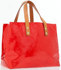 Luxury Accessories:Accessories, Louis Vuitton Rouge Vernis Monogram Reade PM Tote Bag . ...